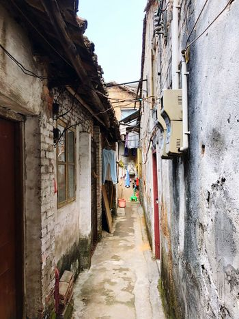 Narrow lane way. Tranquil Scene Quiet Place  Laneway City Photography City Street Residential Area Stone Buildings Narrow Alleys Old Neighborhoods Building Exterior Architecture Built Structure House Residential Building Alley Drying Clothesline The Way Forward No People Outdoors
