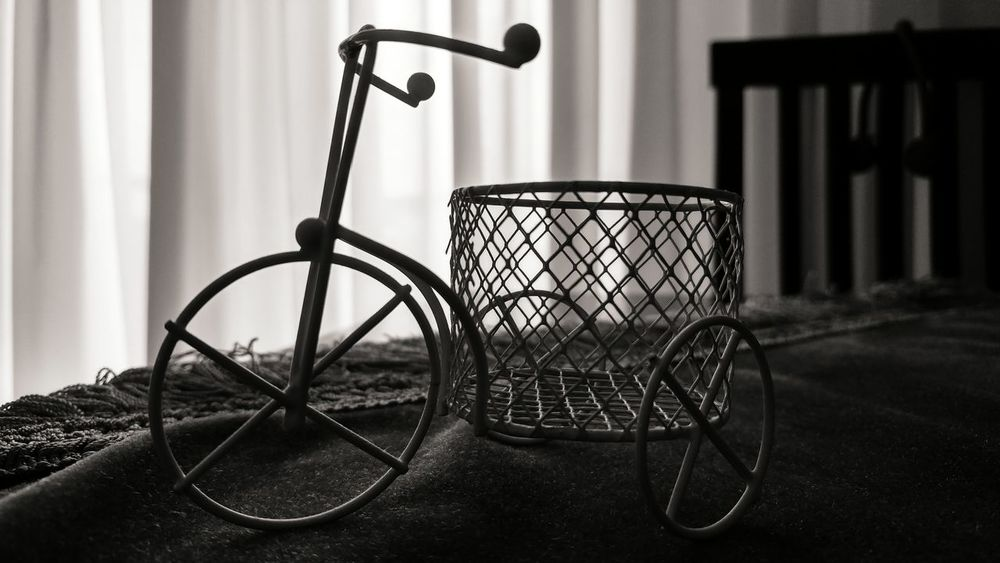 Bicycle No People Indoors  Day Monochrome Photography Monochrome