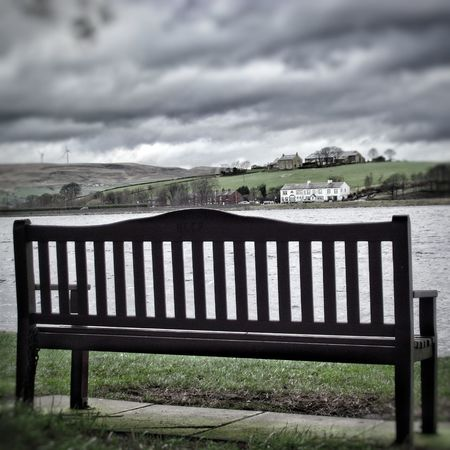Taken on a very cold and windy day at Hollingworth Lake Peace And Quiet Popular Photo Photography EyeEm Gallery Taking Photos See The World Through My Eyes Eyeem Photography HDR Hdr Edit Fujifilm Showcase: February EyeEm Best Shots - HDR Hdr_Collection Bench Benchporn Simplicity Beautiful Nature Atmospheric Mood Beautiful View Creative Light And Shadow Color Photography No People