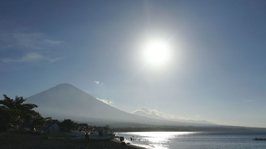 Amed Beach , Bali Amed Sun Mountain Water Outdoors Beauty In Nature Landscape Nature No People Sky Day