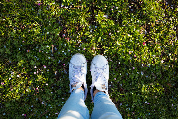 Beautiful Blue Bluejeans Cute Fashion Feet Flowers Foot Garden Girl Grass Green Jeans Lifestyle Lifestyles Morning Nature Nature_collection People Shoes Spring Spring Into Spring Springtime Style White