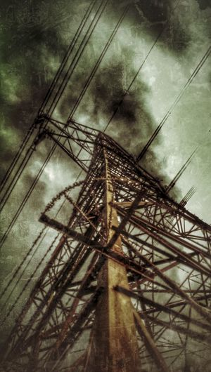 Electricity Pylon In Rust, We Trust Power Lines Old