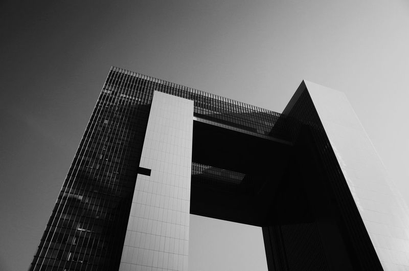 Central Government offices, Admiralty, Hong Kong. Hong Kong Architecture Black And White Monochrome