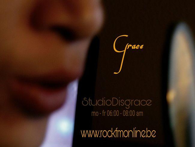 Portrait Of A Friend Radiodeejay Grace Radioshow StudioDisgrace Dj 06:00-08:00am Rockfmonline.be Radio Station Business Card Design by Nefelibata