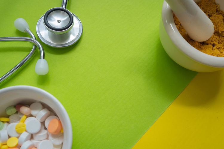 Drug Hospital Medicine Remedy Bowl Breakfast Directly Above Dose Food Green Color Healthcare And Medicine Heart High Angle View Indoors  Large Group Of Objects Medical Medical Equipment Medical Instrument Medical Supplies Medicine Pill Stethoscope  Stethoscope  Table Wellbeing