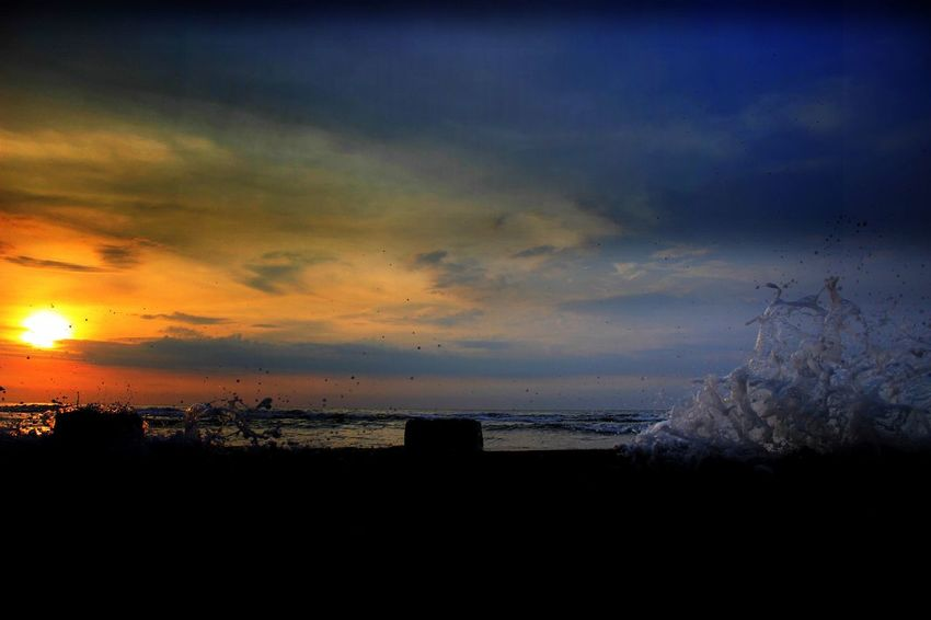 Beach Beauty In Nature Cloud - Sky Day EyeEm EyeEm Best Shots Horizon Over Water INDONESIA Indonesia_photography Marram Grass Nature No People Outdoors Sand Scenics Sea Silhouette Sky Sunset Tranquil Scene Tranquility Tree Vacations Water