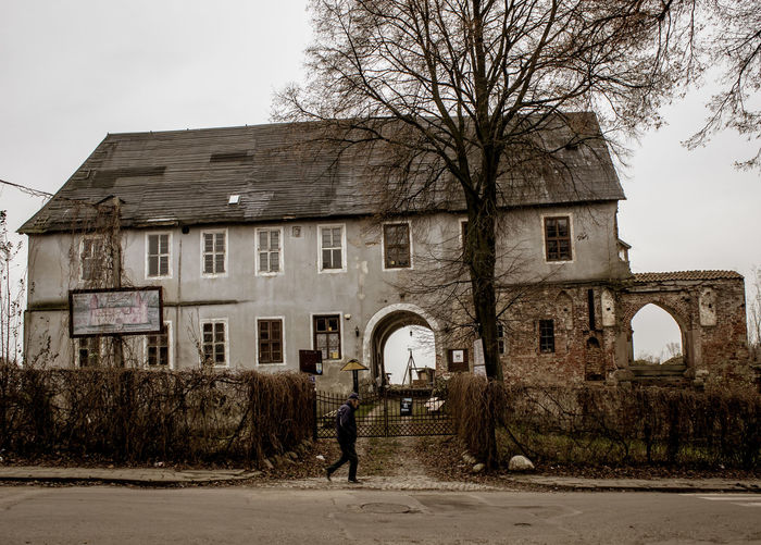 The Prince and his Castle Abandoned Buildings Abandoned Places Architecture Architecture_collection Autumn Building Exterior Castle City City Life Exploring EyeEm Best Edits Guy Moody Poland Morąg Castle On The Road Poland Ruins Silouette Tired Tree Urban Lifestyle