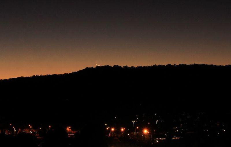 Moonset Sky