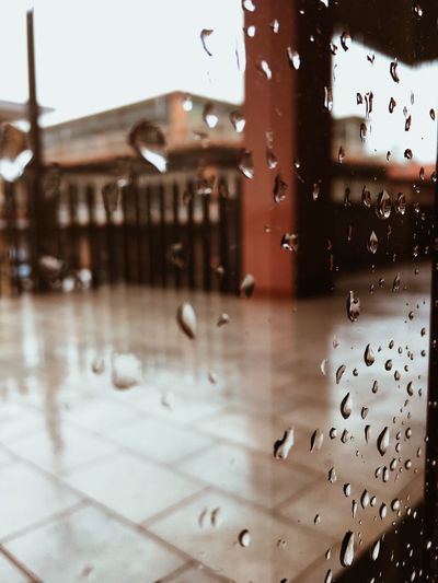 Drop Wet Water Rain Building Exterior Nature Architecture Built Structure No People Window Focus On Foreground Transparent Glass - Material City Rainy Season Outdoors RainDrop Close-up Purity Glass