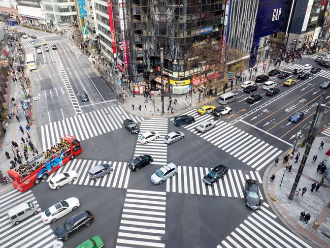 City Street Zebra Crossing Crossing Crosswalk Crowd Pedestrian City Street Walking People Commuter Car Group Of People Rush Hour Large Group Of People Outdoors Cultures Adults Only Day Adult Tokyo Street Photography Japan Photography Tokyo