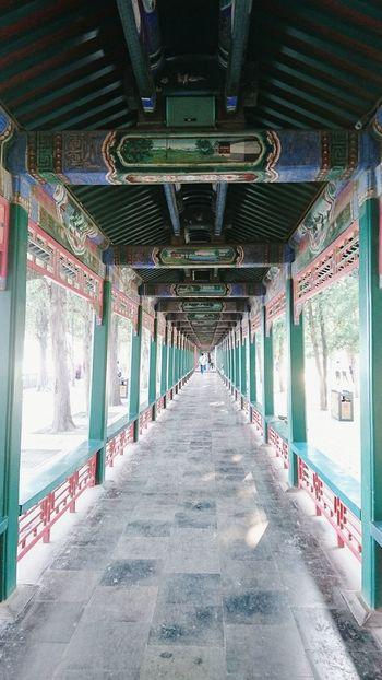 Indoors  Built Structure No People Day Beijing Beijing, China Summer Palace Beijing Corridor The Way Forward History