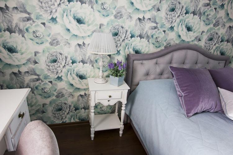 View of sofa in bedroom