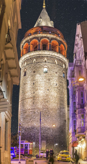 Istanbul Turkey Architecture Building Building Exterior Built Structure City Dome Galatatower History Illuminated Incidental People Low Angle View Nature Night Outdoors Sky The Past Tourism Travel