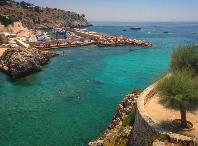 Sea Beach Water Horizon Over Water Day Outdoors Nature Vacations High Angle View Tranquility Sand Travel Destinations Beauty In Nature Architecture Scenics Building Exterior Nautical Vessel No People Sky Tranquility Estate Estate2017 Summer Salento Summer2017