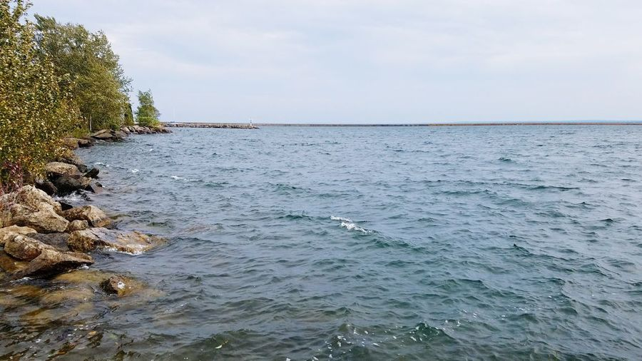 Lake Superior Lake Lake Superior Upper Peninsula Of Michigan Marquette Michigan Tranquility Water Nature Scenics Outdoors Tranquil Scene Beauty In Nature Day