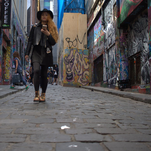 City Daylight Front View Grafitti Hozier Lane Melbourne Movement Photography One Woman Only Outdoors Tourist Visual Inspiration Finding New Frontiers
