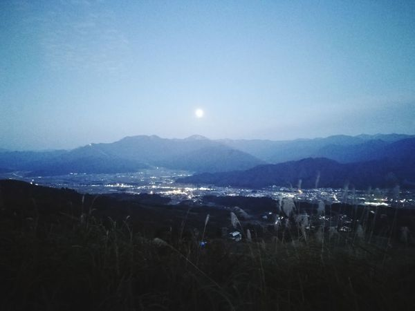 Perspectives On Nature Japan Nigata Skyline Moon Night No People Landscape Outdoors