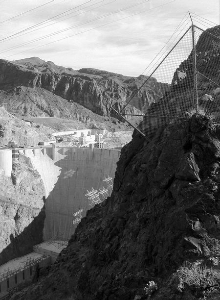 Nevada Photography Blackandwhite Mountain Hydroelectric Power Dam Built Structure Rock - Object Outdoors No People Mountain Range Nature Architecture Day Sky Water Beauty In Nature EyeEmNewHere