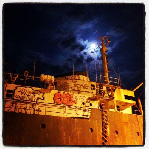 Πανσέληνος Αυγούστου Summertime Harbour & Ships FoolMoon Kalamata