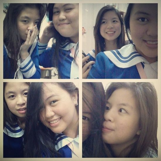 W/ @yceiviii AtSchool Boreeed Kami Eeh bestfriend 7bibi :))