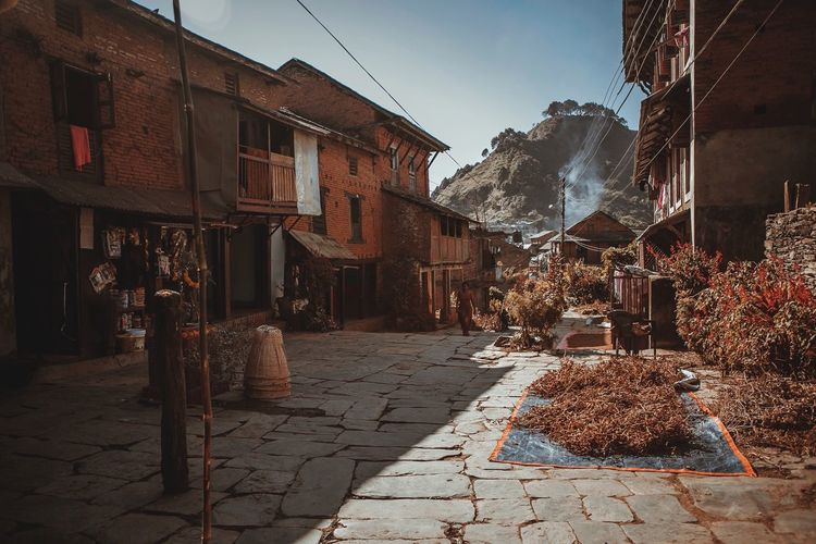 Bandipur Old Buildings Old Town Nepal Travel Destinations Travel Traveling Travel Photography Brick Brick Wall Bricks Brick Building Building Exterior Architecture Outdoors ASIA Asian  Asian Culture Old City