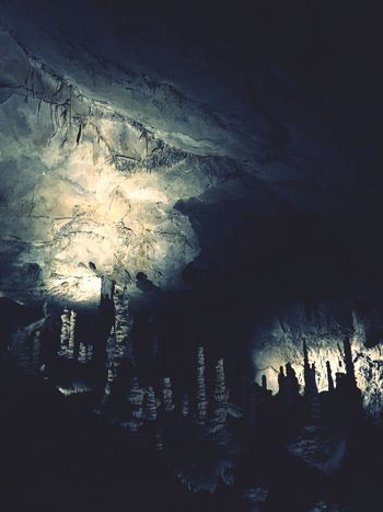 Stalactite  Cave Nature Beauty In Nature Rock - Object Illuminated No People Physical Geography Indoors  Water Night Mountain Scenics Close-up