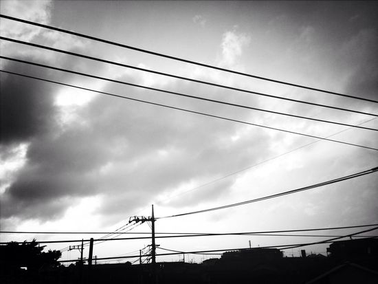 Monochrome After The Storm Clouds And Sky