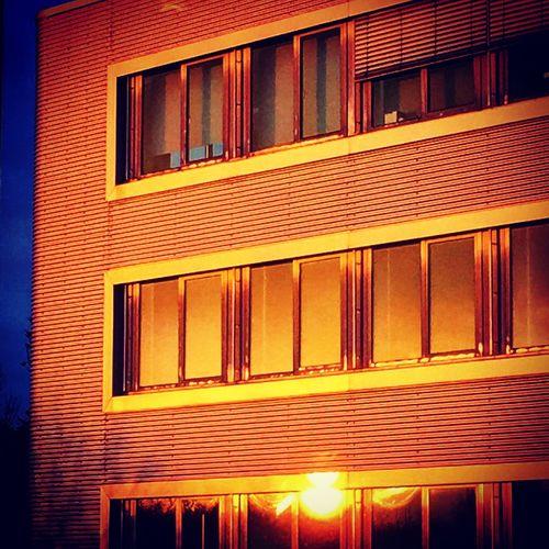 #Ettlingen #GEA #sunset Reflection Buildings