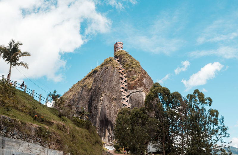 The rock - Guatape 700 Steps Colombia Green High Up Rock Blue Sky Cloud - Sky Day Guatape Lake Lake Nature No People Outdoors Plant Sky South America Tree Water