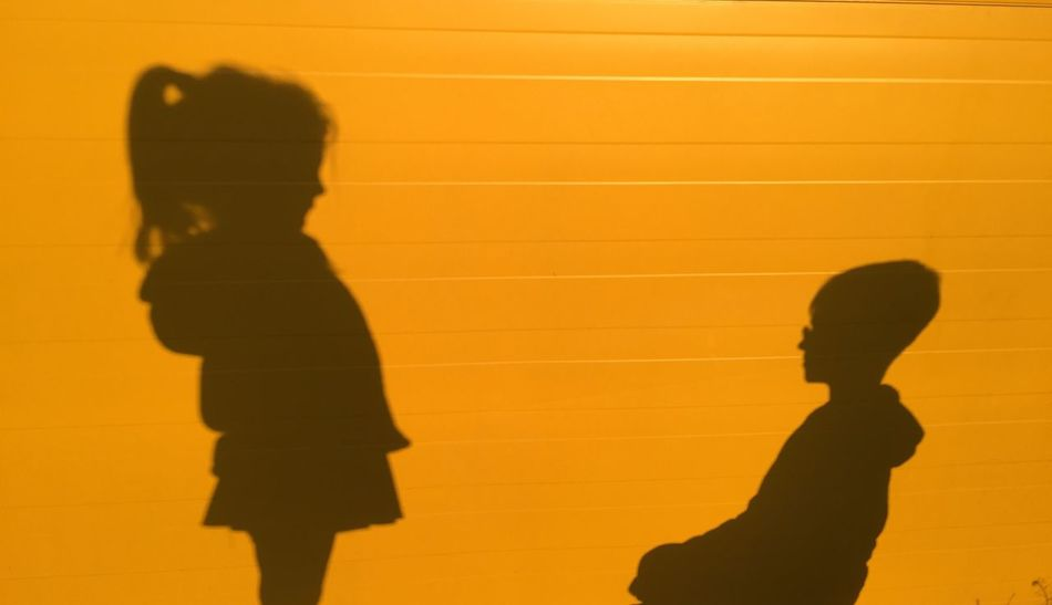 Children Focus On Shadow Happy People Lifestyles Orange Color Springtime Sunset Warm Colors Showcase April Showing Imperfection Beautiful Day The Portraitist - 2016 EyeEm Awards BYOPaper! Paint The Town Yellow
