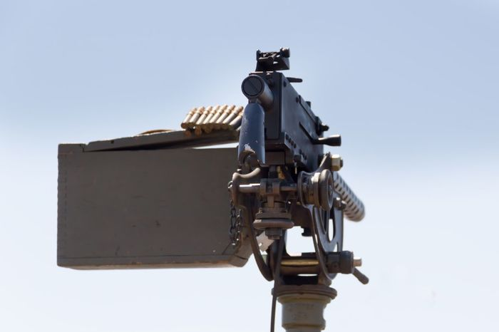 Clear Sky Low Angle View No People Sky Day Outdoors Close-up Lethal Lethal Weapon Machine Gun Gun Ammunition Weapons Of War Weapons Military Dangerous Weapon Army