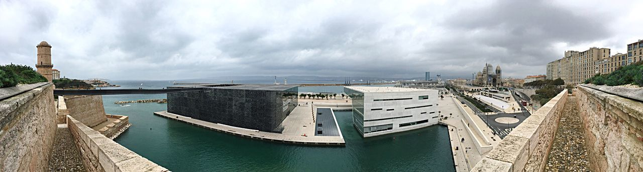 EyeEm Selects Mucem musée sur l'eau Museum Architecture Building Exterior Cloud - Sky Sky Built Structure Water Day No People Outdoors Sea Nautical Vessel Travel Destinations Nature City Cityscape