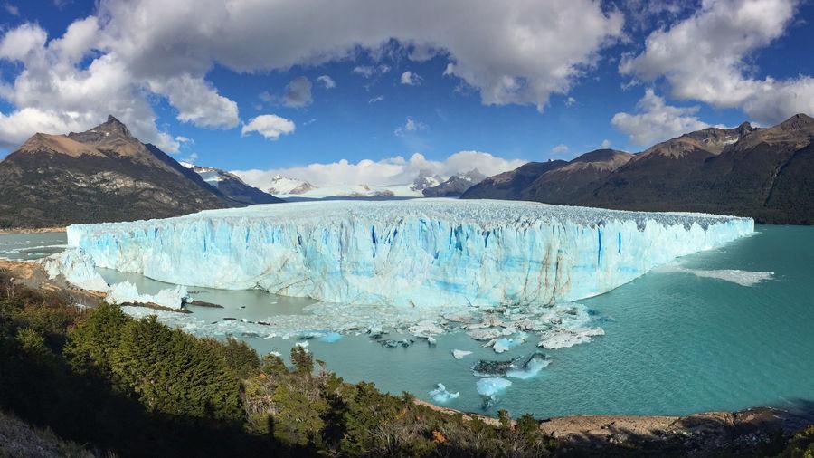 Perito moreno glacier in early morning light, patagonia, argentina