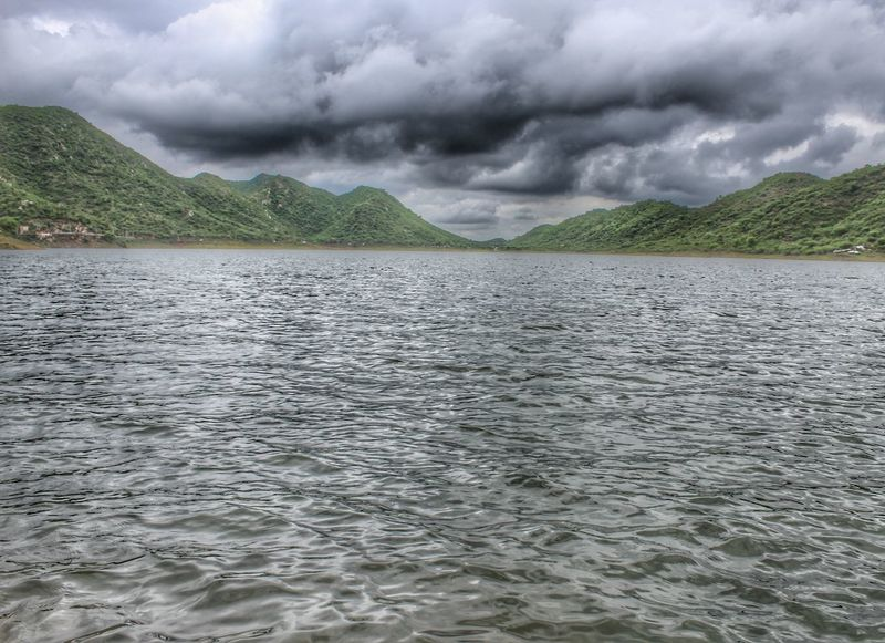 Badi lake at udaipur Cloud - Sky Dramatic Sky Landscape Weather Storm Cloud Storm Water Extreme Weather No People Outdoors Nature Beauty In Nature Scenics Rural Scene Day Sky Udaipur Udaipur. India Udaipur_dairies Badi Lake Udaipur Canon Canonphotography