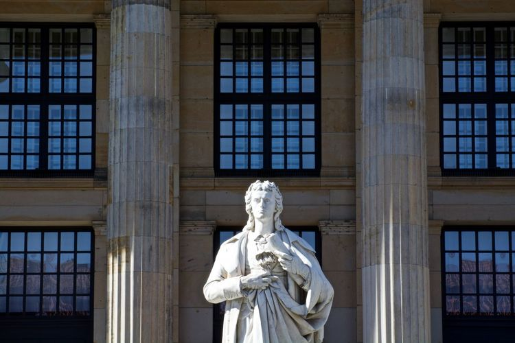 Architecture Architecture Art Art And Craft Building Building Exterior Built Structure City Creativity Day EyeEm EyeEm Gallery Historical Building Historical Monuments Human Representation Konzerthaus Konzerthaus Berlin Low Angle View Sculpture Statue Window