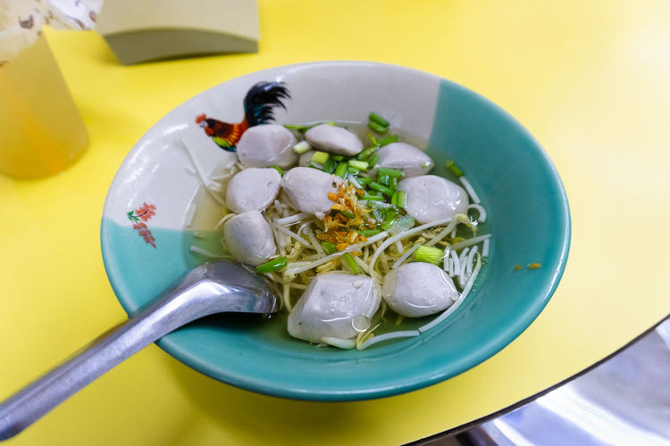 Rice noodle with beef ball Lunch Beef Balls Food Meal Ready-to-eat Rice Noodle  Soup