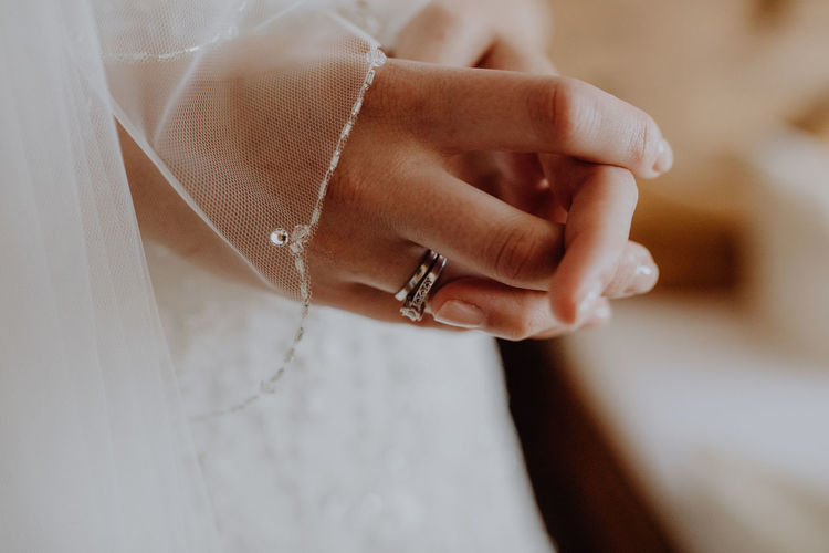Bride ready to get married Couple Getting Ready Love Wedding Adult Bride Celebration Ceremony Commitment Couple - Relationship Fingernail Human Hand Jewelry Marriage  Married Newlywed Ring Trust Veil Wedding Wedding Dress Weddingring Wife Women