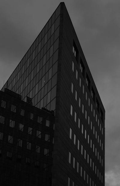 Architecture Black And White Photography Blackandwhite Building Exterior Built Structure City Glassreflections Low Angle View Modern No People Office Block Office Building Exterior Outdoors Prague Czech Republic Reflections Sky Skyscraper