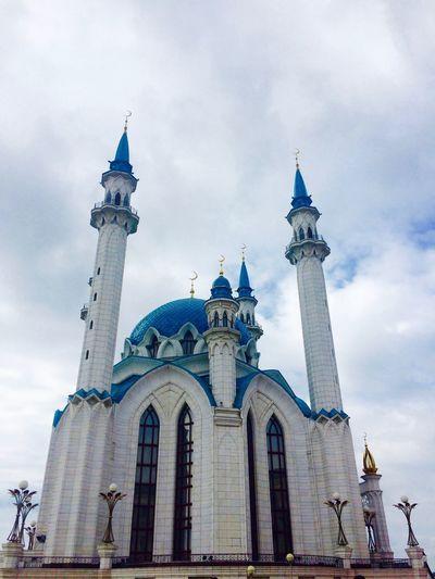 Architecture Built Structure Kazan Mosque No People Outdoors Place Of Worship Qol Şärif Mäçete Religion Russia Sightseeing Sky Spirituality Tourism Travel Destinations Traveling казань Кул Шариф Islam