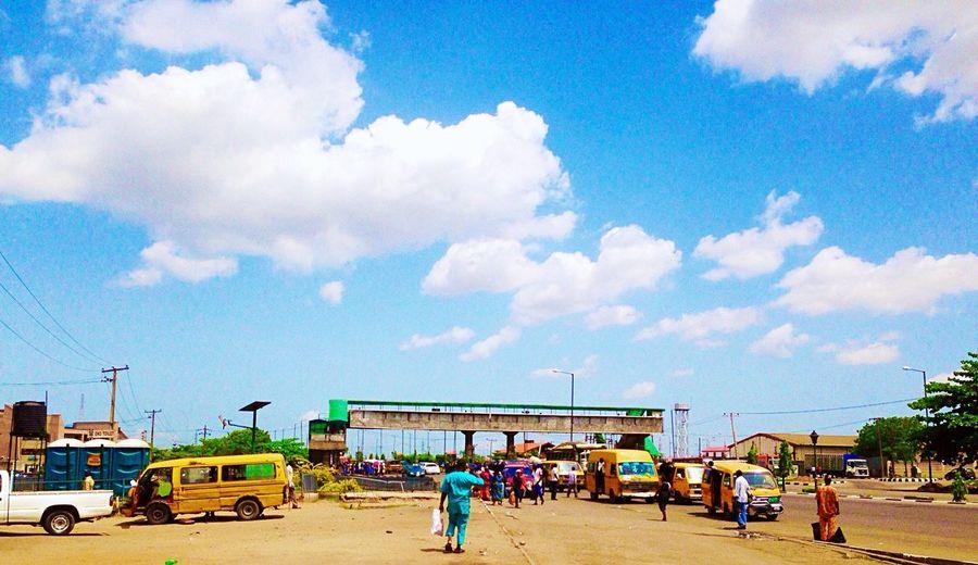 Lagos Pedestrian. Lagos Nigeria skyline On The Way