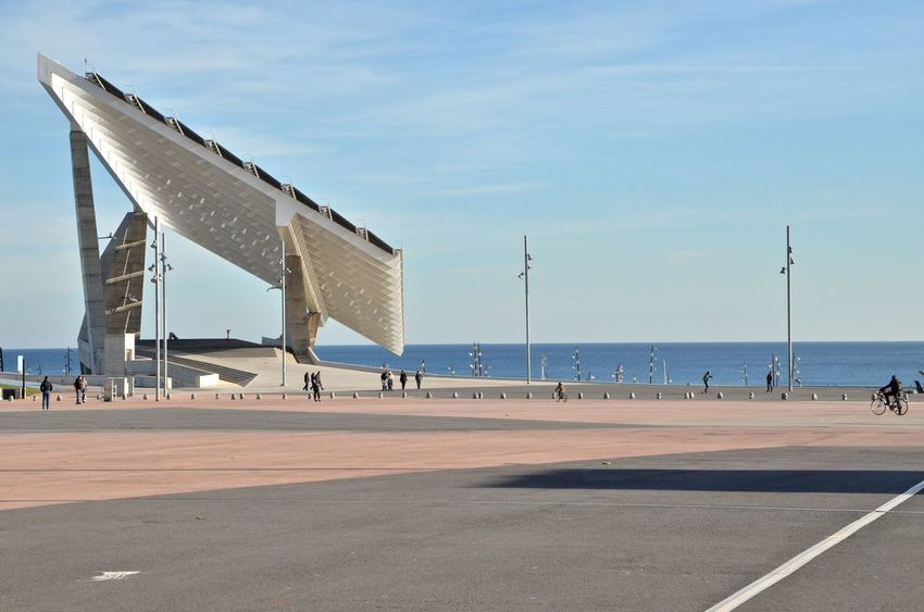 Architecture Barcelona Big Square Forum Barcelona Solar Panel Exterior Architecture Outdoors Sky Water
