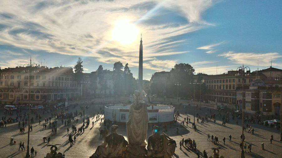 Interesting Pieces Enjoying The Sun Hello World Look Up And Thrive Enjoying Life Getting Inspired Roma Piazzadelpopolo