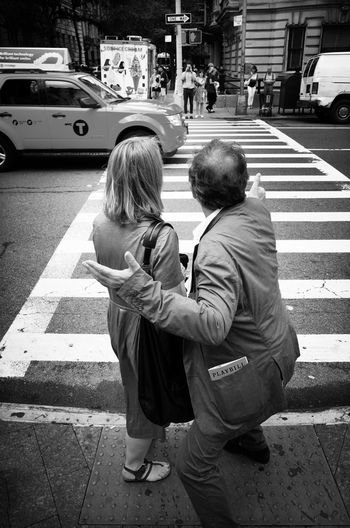 Les Love Togetherness Bonding Full Length Casual Clothing Family Lifestyles Car Childhood Street Transportation EyeEm Best Shots - Black + White EyeEm Best Shots Black And White New York City Street Photography NYC Leisure Activity Boys City Mother Family With One Child Person Rear View Girls