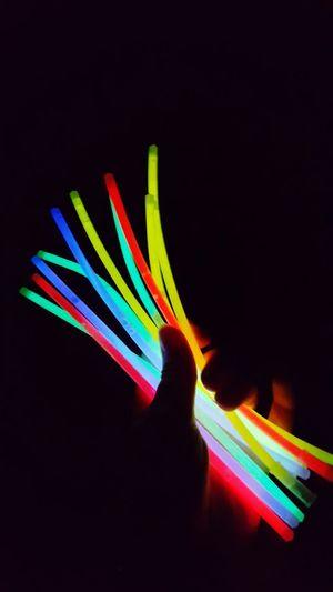 Multi Colored Rainbow No People Neon Close-up Spectrum Shiny Dark Darkroom Iluminating Light Nobody Night Night Lights Iluminated Neon Lights Hand Color Colorful Glow Glowlight Magic Magic Moments Magic Lights