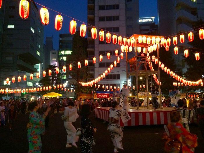 新宿二丁目 にもお盆がやって来て太鼓の音が町に響く 盆踊り お祭り Shinjuku