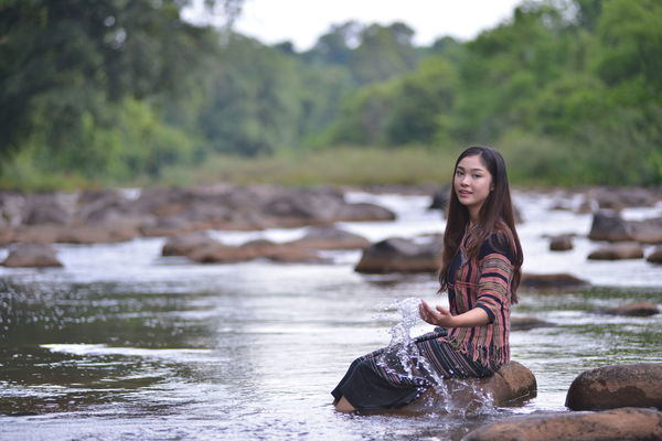 Portrait of woman in LAOS Loas Travel Portrait Of A Woman Vientiane, Laos Casual Clothing Laos Laos Girls Leisure Activity One Person Outdoors Portrait Portrait Laos Real People Smile Vientiane Laos