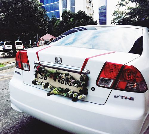 "The plate of the newly wed's car says: ""sa wakas"". In english, it means FINALLY. 💗 Car Transportation Wedding Wedding Photography Wedding Day Philippines Love"