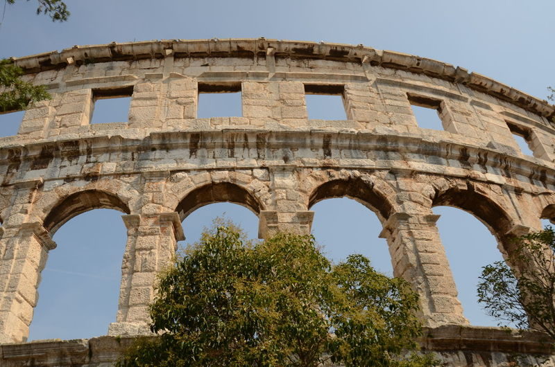 Pula Croatia Old Ruin Ancient Architecture Amphitheater