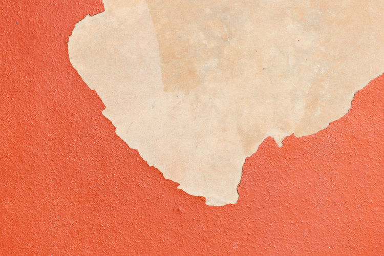 Ground floor painted orange and color peeling Orange Road Backgrounds Cement Close-up Day Floor No People Paint Paper Red Textured