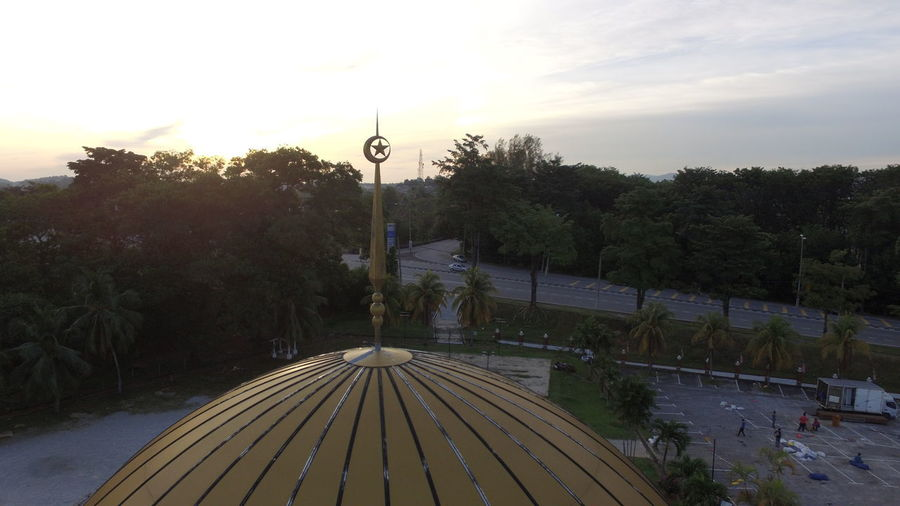 Ramadhan Kareem 2018. Modern Architecture Tree Aerial View Architecture Beauty In Nature Building Exterior Built Structure City Close-up Dronephotography High Angle View Mosque Muslim Nature No People Outdoors Plant Ramadhan Kareem  Sky Sunset Tree